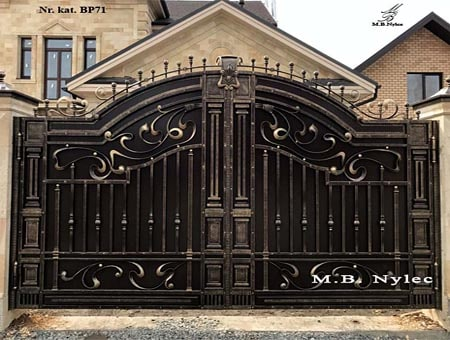 Brama kuta w stylu greckim bp71