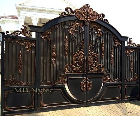 Ekskluzywna brama dwuskrzydłowa w orientalnym stylu bp129