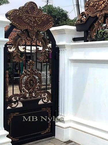 Ekskluzywna bramka kuta w stylu orientalnym bp129f