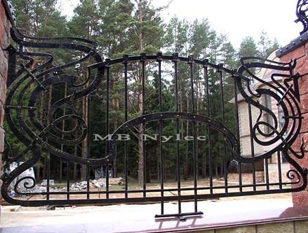 Siermiężne ogrodzenie kute - bp93