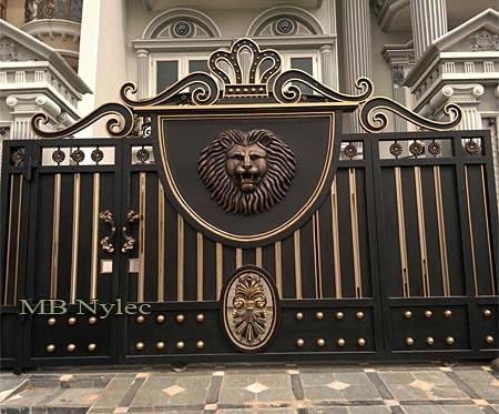brama w stylu nowoczesno orientalnym bp136