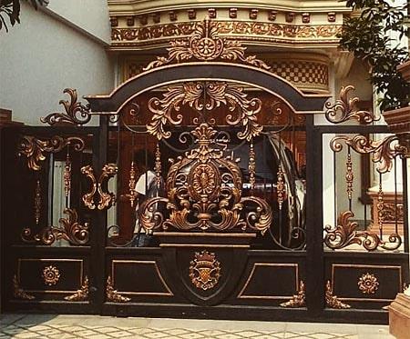 brama wjazdowa w typie orient bp134