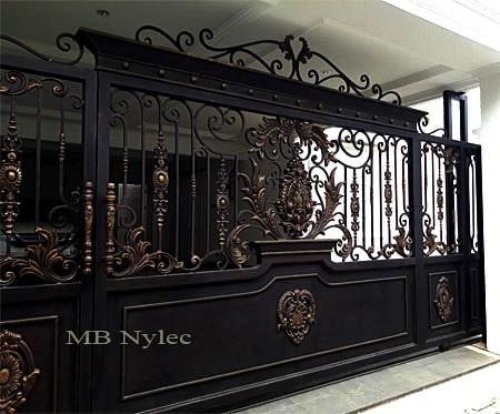 ekskluzywna brama przesuwna w stylu orientalnym bp123