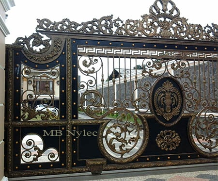 ekskluzywna pałacowa brama przesuwna bp128