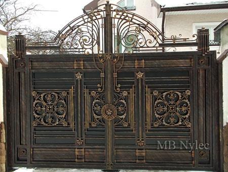 ekskluzywna pełna brama wjazdowa bp107