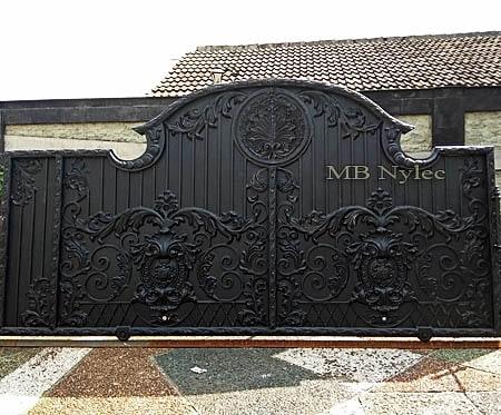 ekskluzywna pełna kuta brama w stylu orientalnym bp122