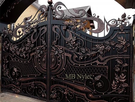 elegancka pełna brama bp166