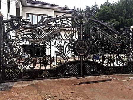 fantazyjna brama wjazdowa bp182 - kowalstwo artystyczne