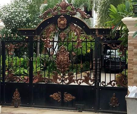 kuta brama wjazdowa na posesję w orientalnym stylu bp114