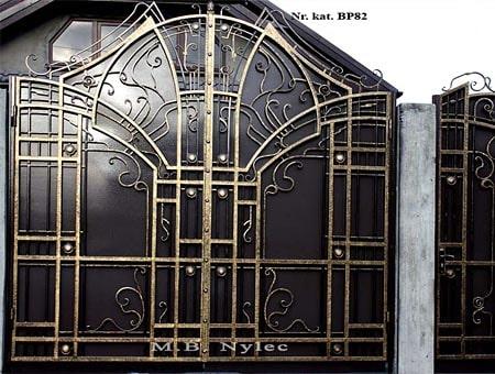 nowoczesna kuta brama bp82