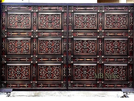pełna elegancka brama wjazdowa bp152