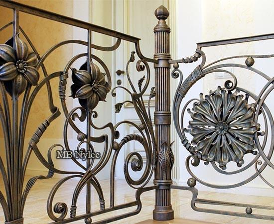 Balustrada ręcznie robiona kuta ba74