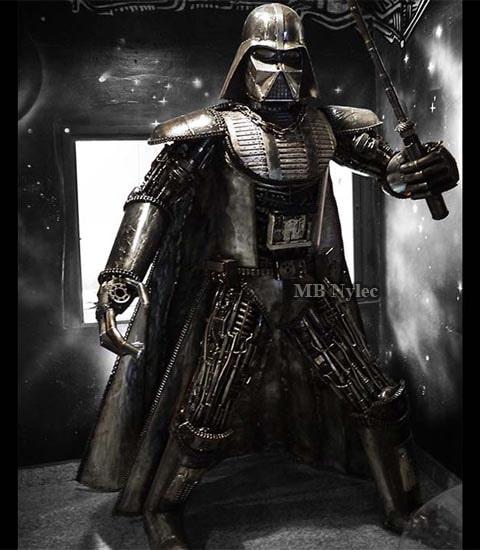 Lord Vader - rzeźba z metalu 220cm