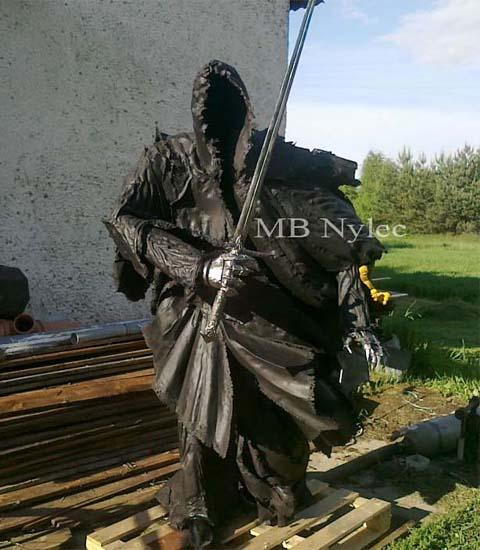 Nazgul-figura ze stali 220cm