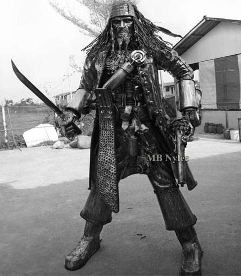 Pirat rzeźba figura ze stali