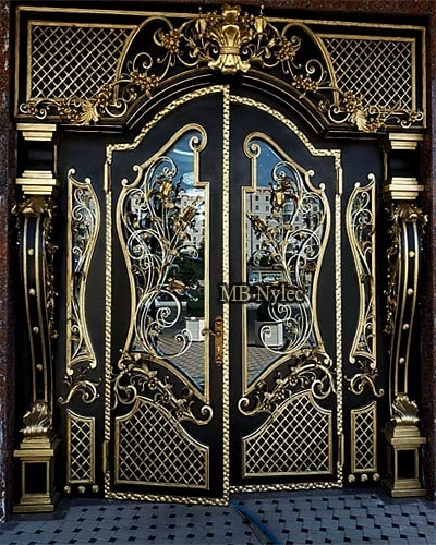 ekskluzywne stalowe drzwi kute dz9