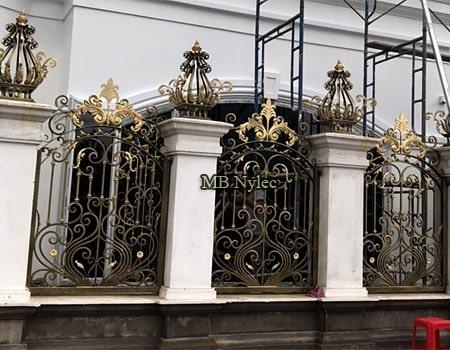 eleganckie ogrodzenie kute bp269