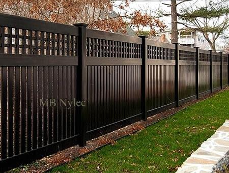 masywne ogrodzenie w nowoczesnym stylu bp221