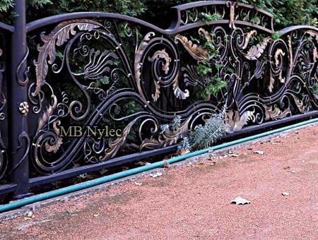 ogrodzenie kute rokoko barok bp246