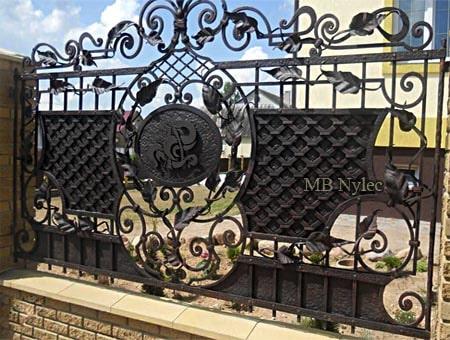 ogrodzenie kute z kratownicami bp254