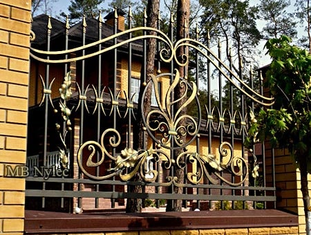 ogrodzenie w odcieniach złota bp249