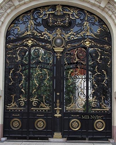 pałacowe drzwi kute dz2