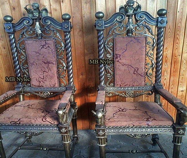 Ekskluzywne krzesła kute mk56