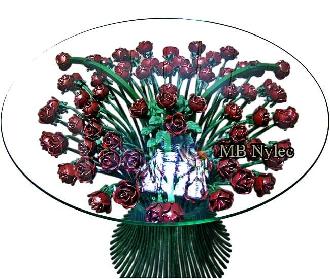 Ekskluzywny stół 70 kutych róż mk46