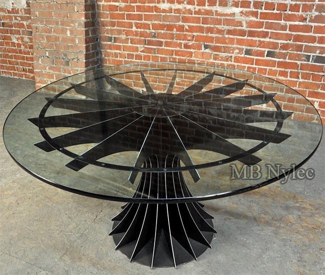 Stół stalowy w stylu loft industrial