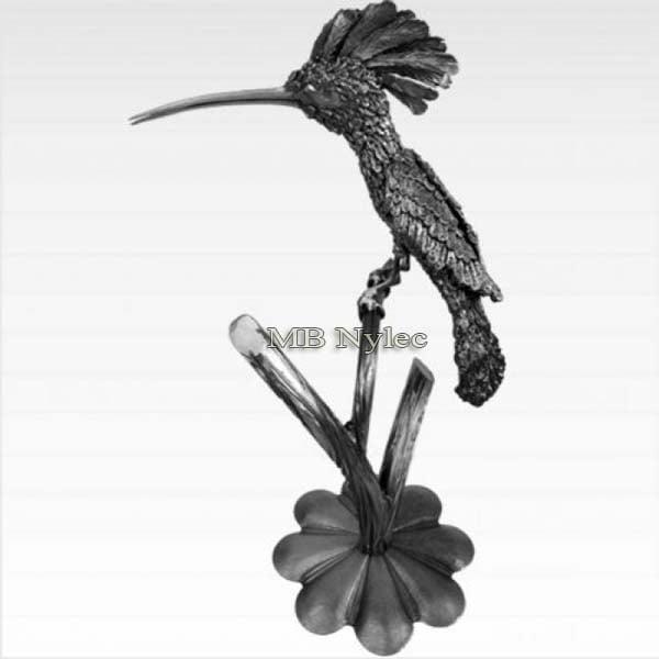 rzeźby ze stali - dudek z metalu - kowalstwo artystyczne