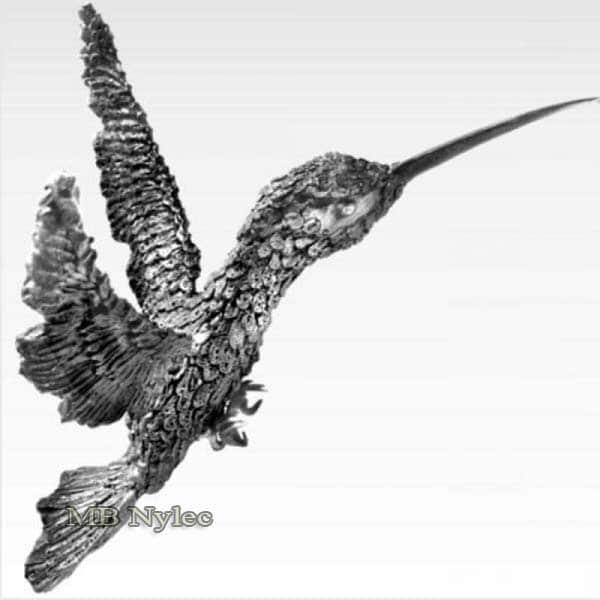 rzeźby ze stali - koliber z metalu - kowalstwo artystyczne