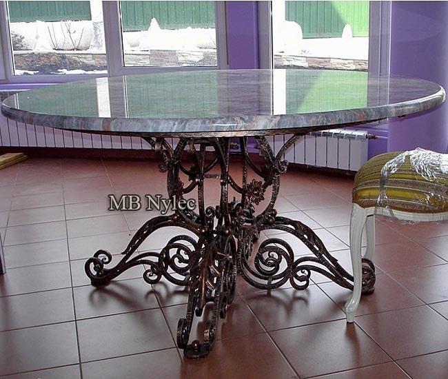 stół kuty z granitowym blatem