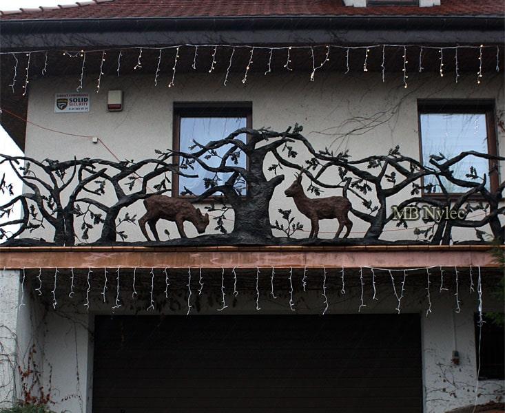 Balustrada kowalska z koziołkami