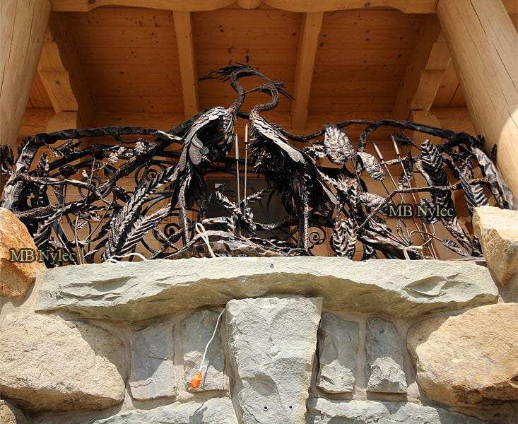 kuta balustrada z czaplami myśliwska