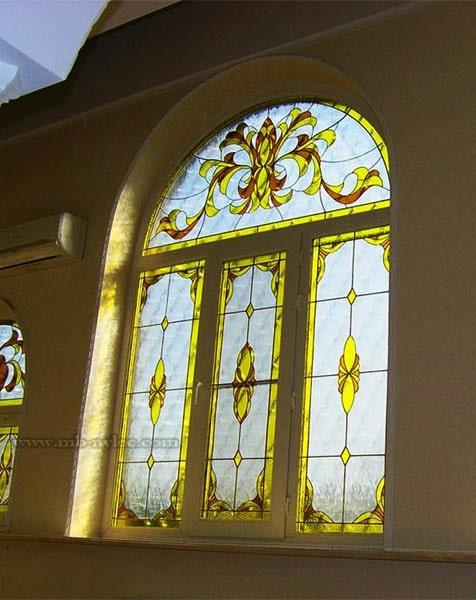 tradycyjny witraż do domu rezydencji pałacu