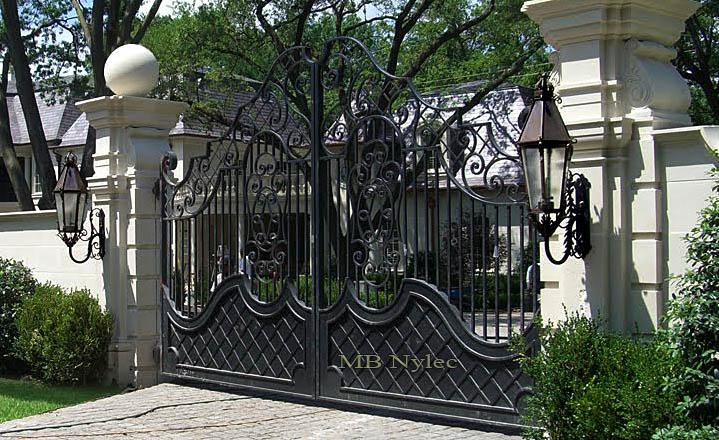 Brama kuta w stylu dworskim bp16