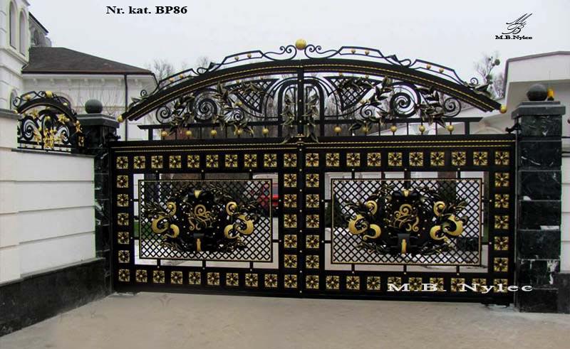 Ekskluzywna brama ażurowa do rezydencji bp86
