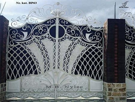 brama wjazdowa w stylu glamour bp63