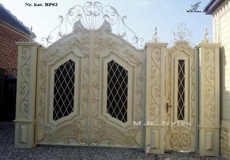 ekskluzywna brama pełna w jasnych kolorach bp62