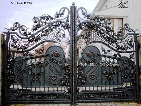 Brama wjazdowa pół-pełna bp69