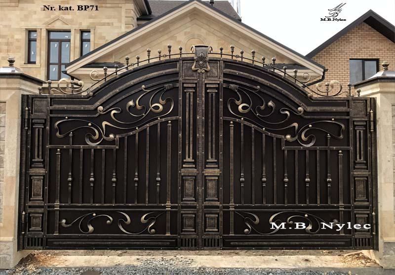 Ekskluzywna brama kuta w stylu greckim bp71