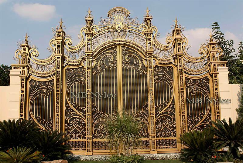 Kowalska brama pałacowa w stylu rokoko - kowalstwo artystyczne - bp115