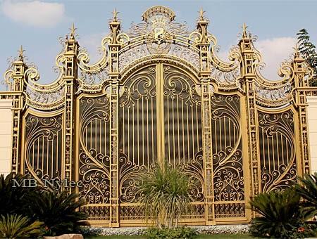 Kuta brama pałacowa w stylu rokoko - kowalstwo artystyczne - bp115