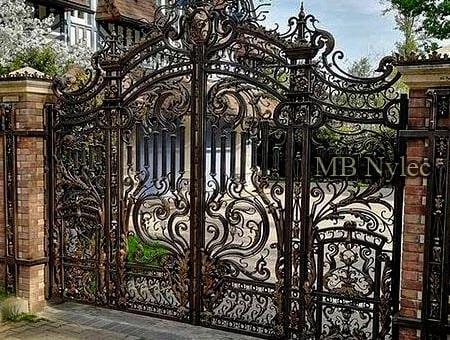 Kuta ekskluzywna brama barokowa - pałacowa bp158