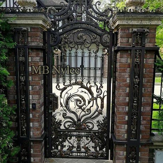 Kuta furtka wejściowa barokowa - pałacowa bp158f