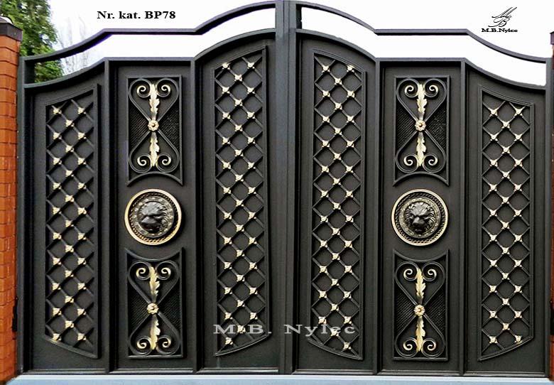 Nowoczesna brama wjazdowa w stylu Glamour bp78