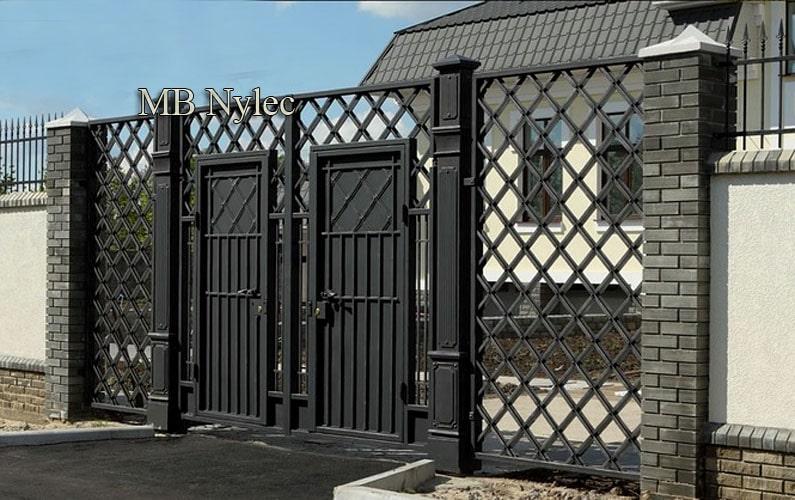 brama wjazd w stylu industrial bp204