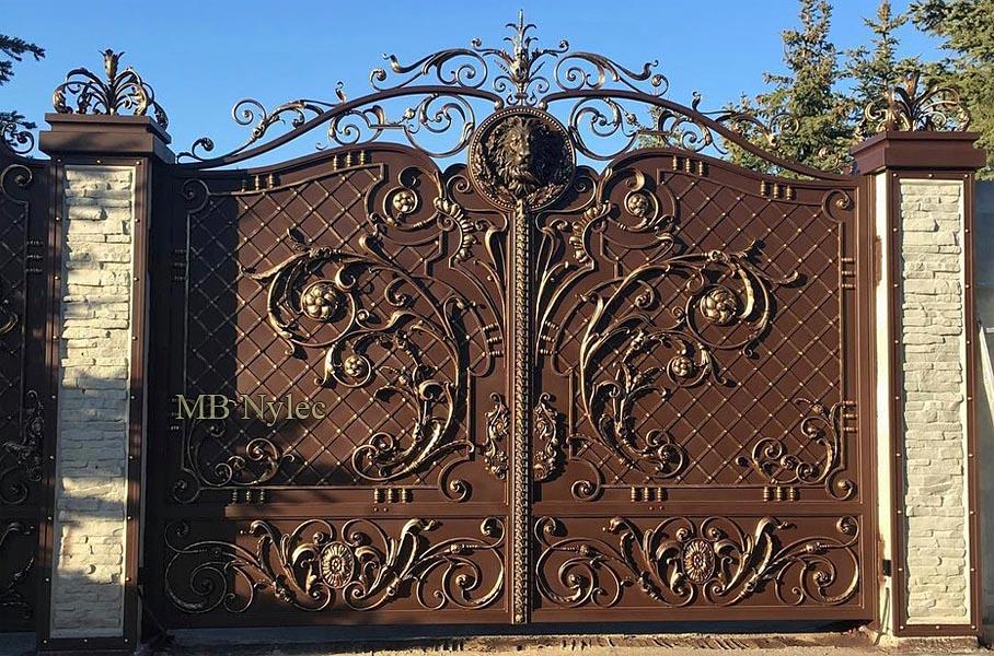 ekskluzywna brama z lwem bp165