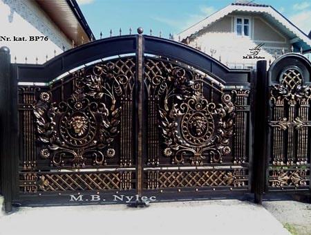 kuta brama pełna z lwami bp76