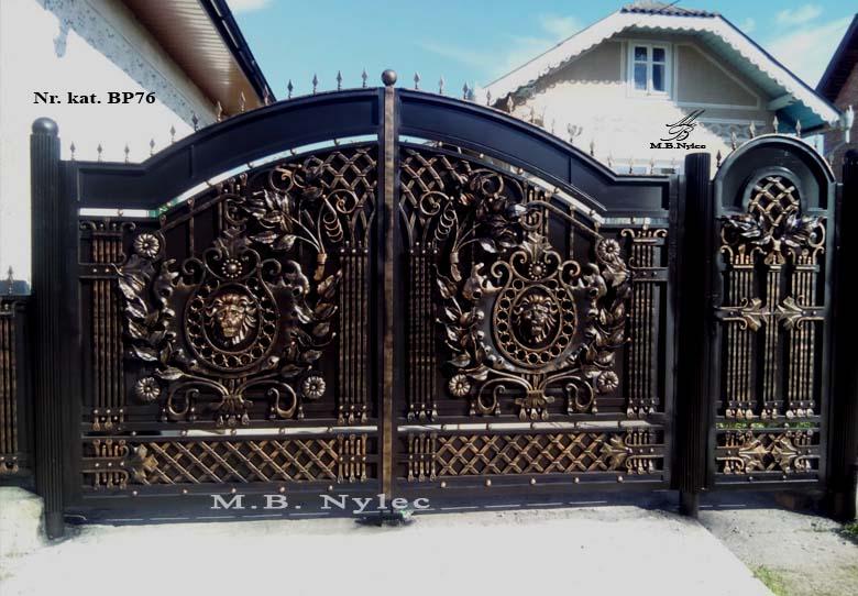 kuta brama wjazdowa pełna z lwami bp76